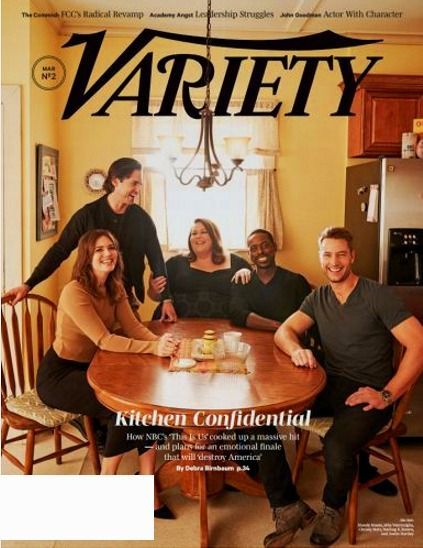 VARIETY Magazine March 7, 2017 NBC'S THIS IS US, The Commish, John Goodman, FCC