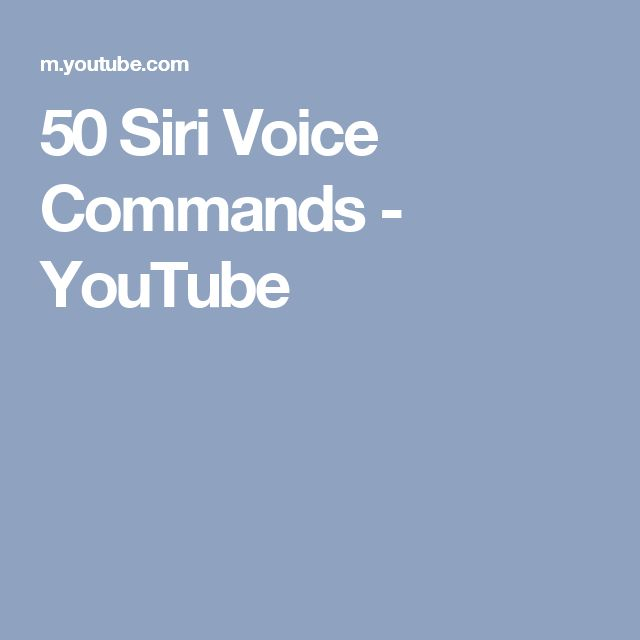 50 Siri Voice Commands - YouTube