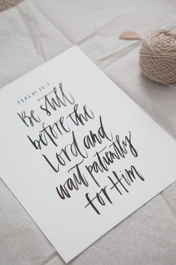 Custom brush calligraphy quote sign