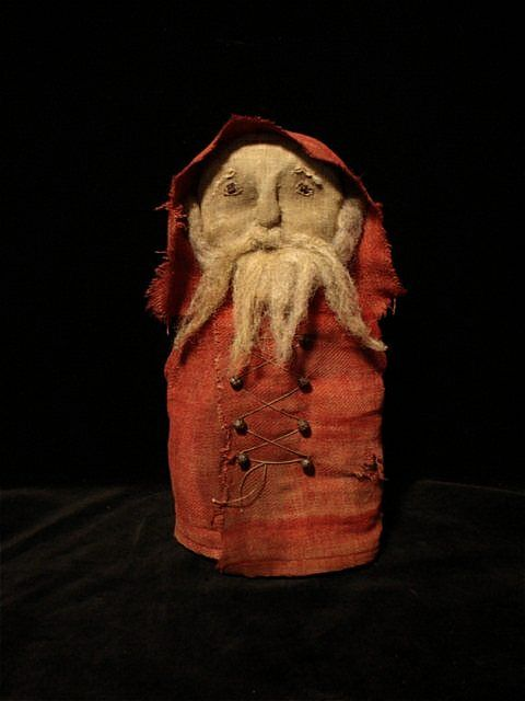 Rustic old santa; I'm going to try this.