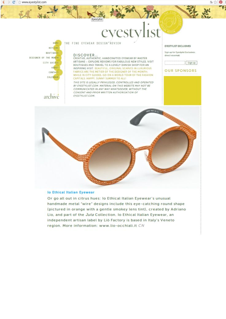 Thanks to Eyestylist.com for this review! http://www.eyestylist.com/ ‪#‎ioethicalitalianeyewear‬ ‪#‎eyewear‬ ‪#‎handmade‬ ‪#‎handmadeinveneto‬ ‪#‎fashion‬ ‪#‎eyestylist‬