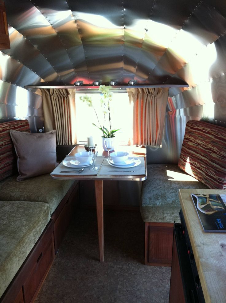 A New Dinettebed Inside A 1965 Airstream Caravel Done At