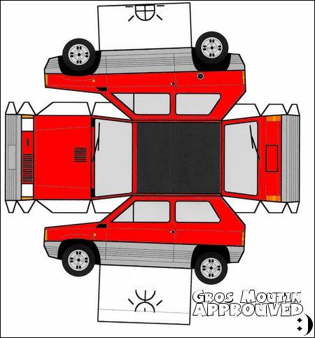 Toi aussi fait ta super Fiat Panda ! DOWNLOAD Clic sur le download ci-dessus et imprime la grande image sur une feuille A4. Munie-toi d'une paire de ciseaux puis découpe attentivement les reb…