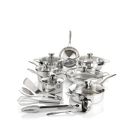 "Shop Wolfgang Puck Bistro Elite 18pc ""Favorites"" Cookware (Instant Savings)"