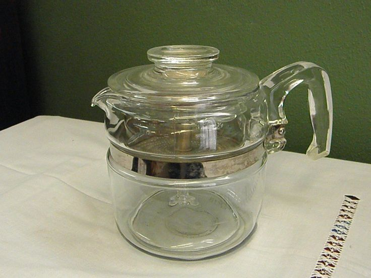 1950s 4 Cup Pyrex Glass Stove Top Coffee Pot Percolator Percolator Coffee Coffee Pot Percolator
