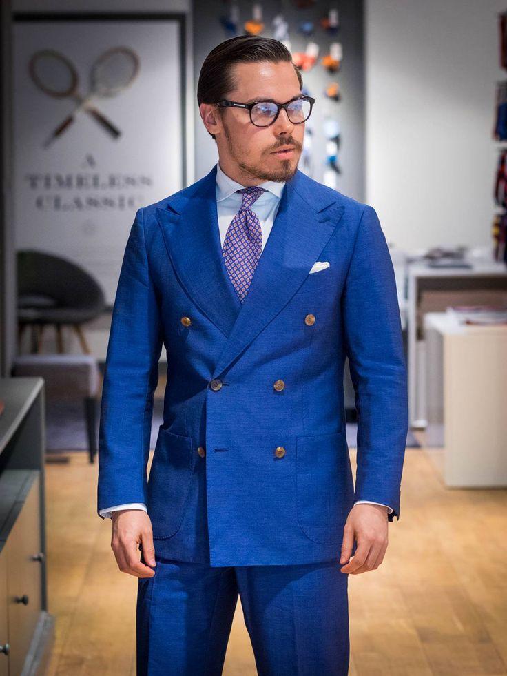 The royal blue suit. #bluesuit #suitforbusiness #doublebreastedsuit #ties #accessories
