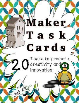Makerspace Task Cards - Set #2