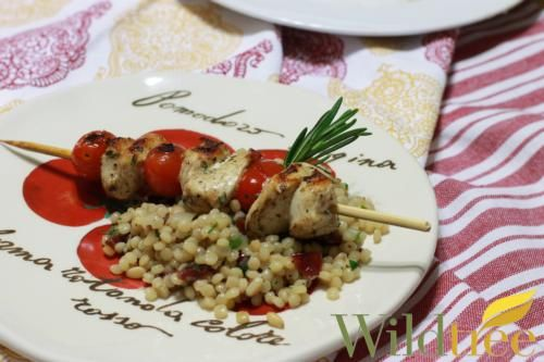 Shawarma Chicken Kabobs with Couscous - Wildtree Recipes