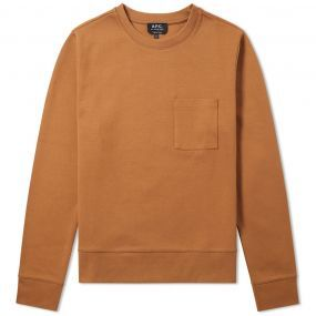 A.P.C. or 'Atelier de Production et de Création' has been updating wardrobe classics since 1987. This Yogi crew sweat is constructed from a sturdy cotton blend and will be a welcome addition in any wardrobe rotation, this season and next. A banded crew neckline, ribbed cuffs and hemline and a single patch pocket to the chest add a neat finish to this wearable piece. 80% Cotton & 20% Polyester Banded Crew Neckline Ribbed Cuffs & Hemline Patch Pocket to the Chest