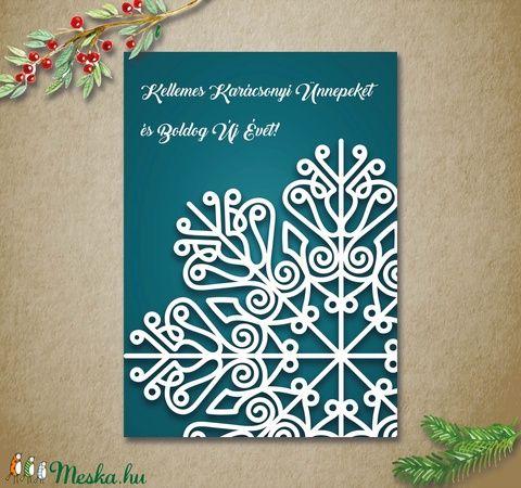 Karácsonyi képeslap, üdvözlőlap szett - csipkepihe - 3db (kkreabeaa) - Meska.hu