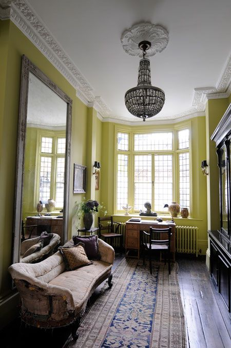 Lime greenWall Colors, Dining Room, Beautiful Interiors, Interiors Design, High Ceilings, Wallsinterior Design, Design Home, Interiors Decor, Bright Colors