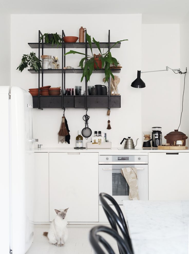 Susanna Vento's Kitchen, with shelf from Ikea