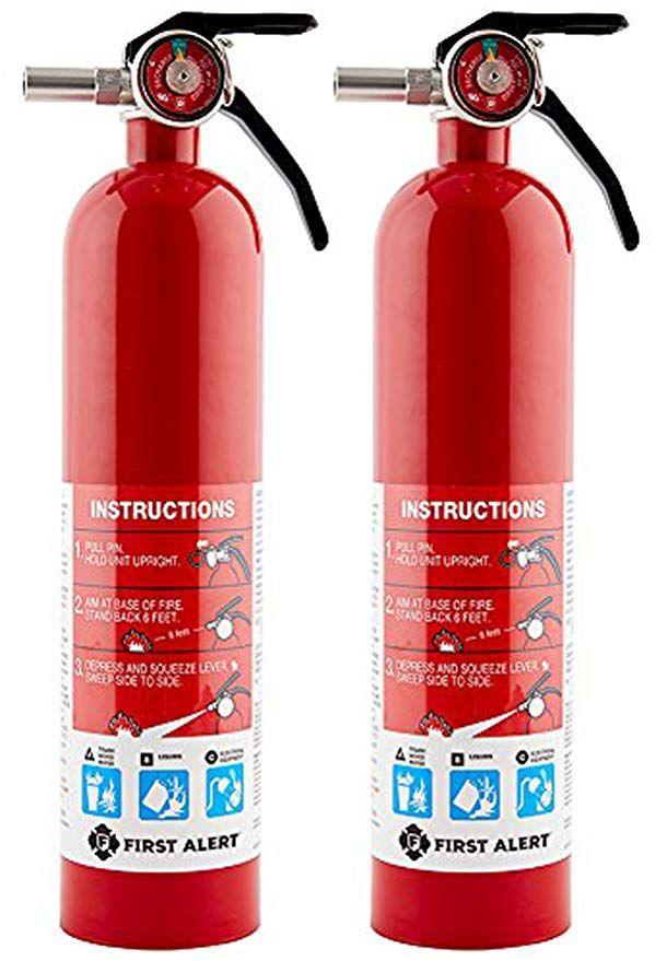First Alert Sdfaebq Rechargable Standard Home Fire Extinguisher Red 2 Pack Fire Extinguisher Extinguisher Fire