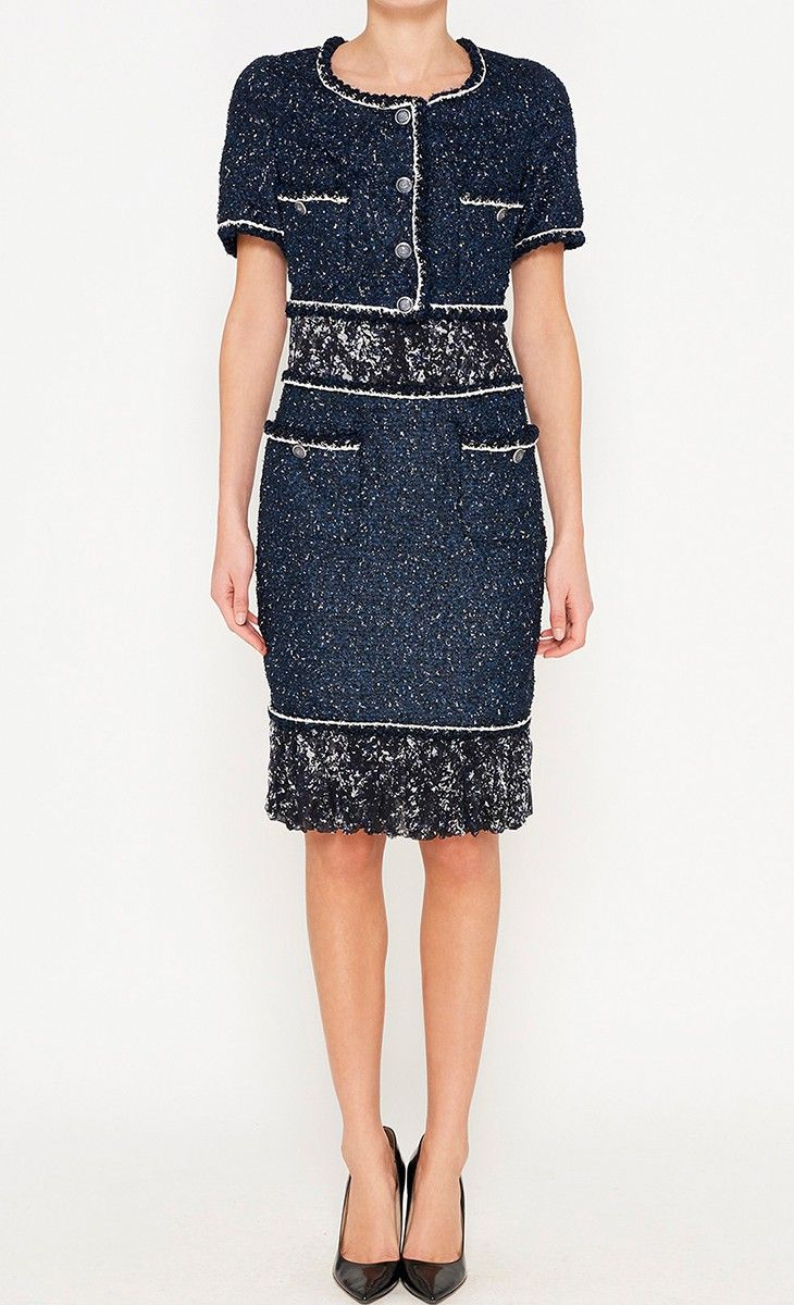 Chanel Navy and White Dress l Vaunte