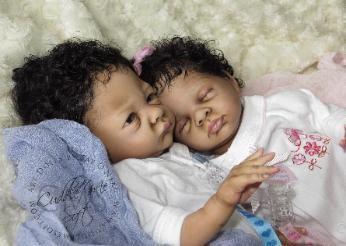 Reborn Twins, reborned by Fay O'Neal of Cuddle Me Soft - www.cuddlemesoft.com