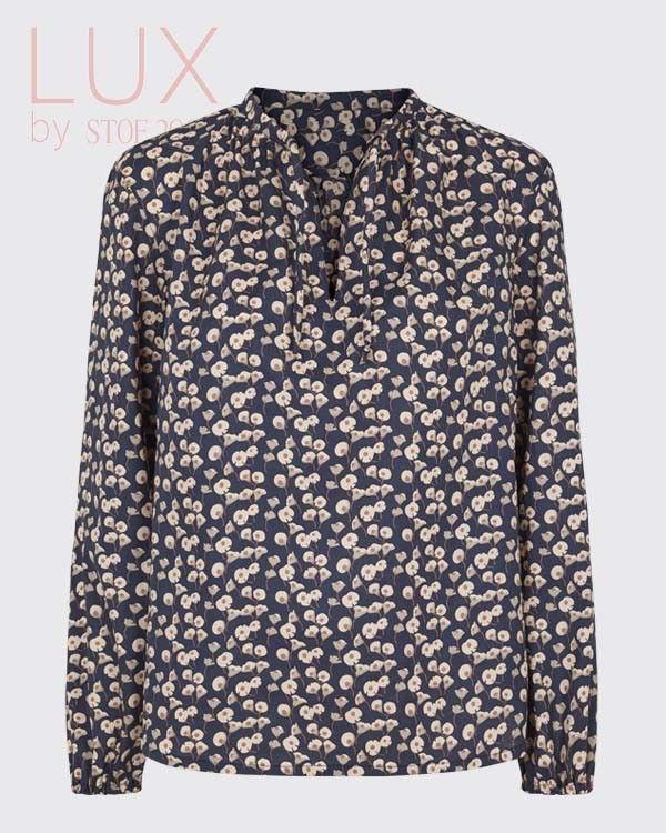 Blød bomulds bluse i luksus kvalitet.