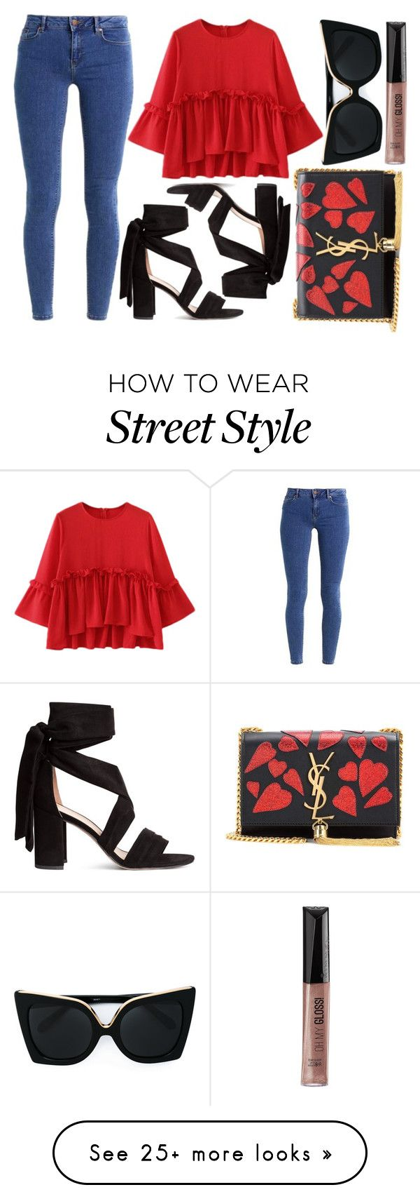 """""""street style"""" by sisaez on Polyvore featuring even&odd, Yves Saint Laurent, N°21 and Rimmel"""