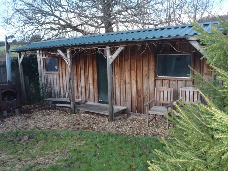 static caravan clad in wood - Google Search perfect for the annex and office. So affordable