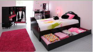 chambre noir et rose