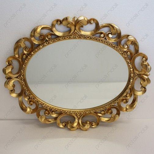 Specchiera Barocca Ovale in Legno Massello #mirrors #frames #home #decoring
