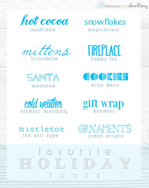Perfect FREE Holiday Fonts.  Great for those party invitations and Christmas cards! Delineate Your Dwelling