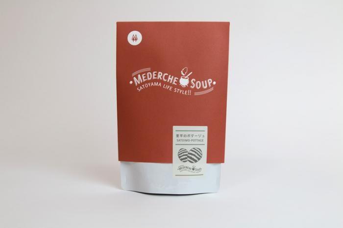 里芋の名産地上市産の里芋をふんだんに使用したレトルトスープ。
