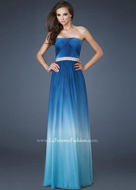 La Femme 18692 Ocean Blue Ombre Gown [164186] - $450.00 : Bridesmaid Dresses 2013, Wedding Dresses 2013, Unique Bridesmaid Dresses, Big Discount For People