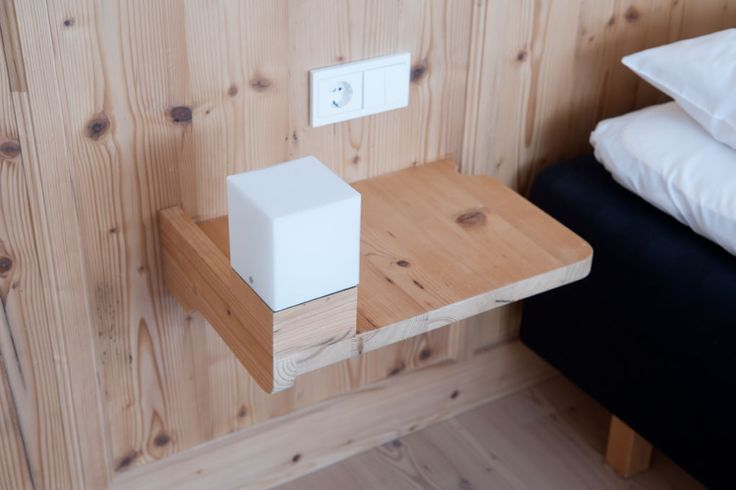 #minimal bedside table with #untreatedwood #Nachttisch
