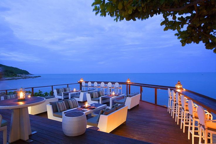 Rockpool Restaurant in Koh Samui   Koh Samui's leading restaurant specialising in the art of fine dining is set in the fabulous Karma Samui Resort overlooking the stunningly blue waters of the Gulf of Thailand. Located on Choeng Mon Beach just 5-minutes from the famous Chaweng Beach, Rockpool Restaurant is the cream of the crop of upscale eateries on the island, with its open-plan terraced dining area extending over the beach giving superb seascape views.