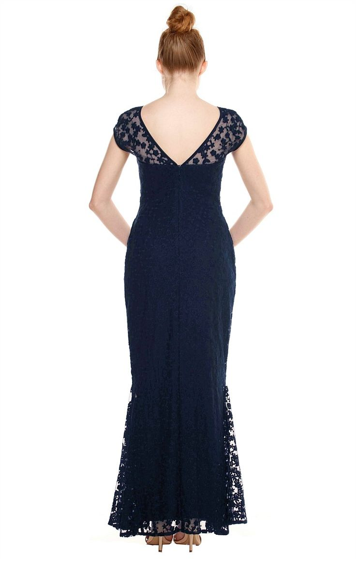 http://www.sachadrake.com/dresses/formal-/SDW17PR09NV/PRUNELLA-CAP-SLEEVE-SWEETHEART-NECK-LACE-FISHTAIL-FORMAL-DRESS-IN-NAVY.html