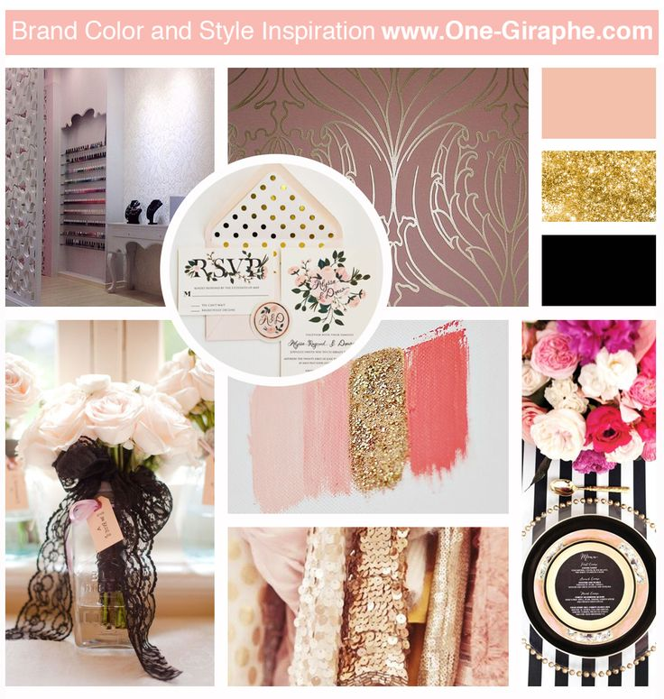 New Mood Board!! - Peach, Glitter & Black! Do you like it? #moodboard #brandcolor #inspiration #designer #logodesign #design #logo #logos #peach #glitter #black #luxury #gold #pastels