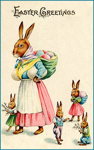 hiding eggs :) The country bunny and the golden shoes. (best Easter book ever.)