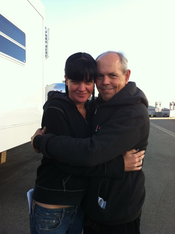 Pauley Perrette and Joe Spano from Pauley Perrette's twitter. I always smile when I know Joe Spano is going to be on a new episode, he is just so much fun!