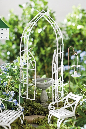 We love all white in Fairy Gardens. 77 best images about Mini Garden Furniture on Pinterest   Vines