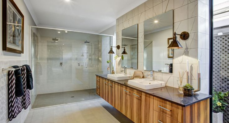 Master ensuite in the Mod by Summit Homes. Discover more at https://www.summithomes.com.au/display-homes