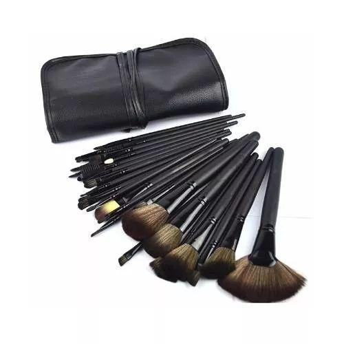 Set Pinceles Maquillaje Profesional 32 Unidades + Brochero - $ 849,00