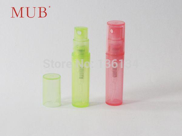 MUB 500 шт./лот 2 мл духи спрей бутылку образец спрей бутылки Форсунки Контейнеры Для Косметики Духи пластиковые бутылки спрей