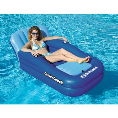 Reading inflatable pool fun reviews on oversized inflatable cooler couch #CozyDays