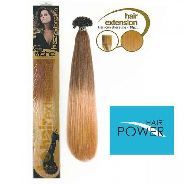 Extension She Hair con cheratina XXL confezione 10 pezzi 65-70 cm