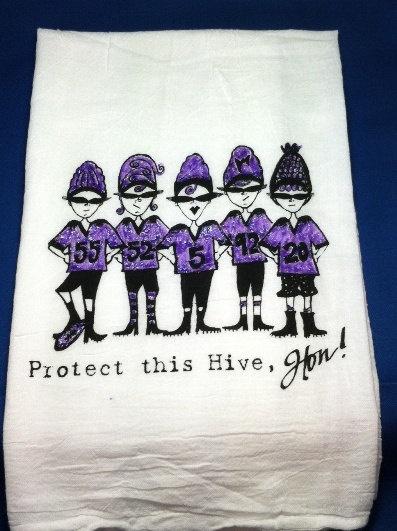 Baltimore Ravens football Flour Sack Towel by pinkboxstudio, $14.00