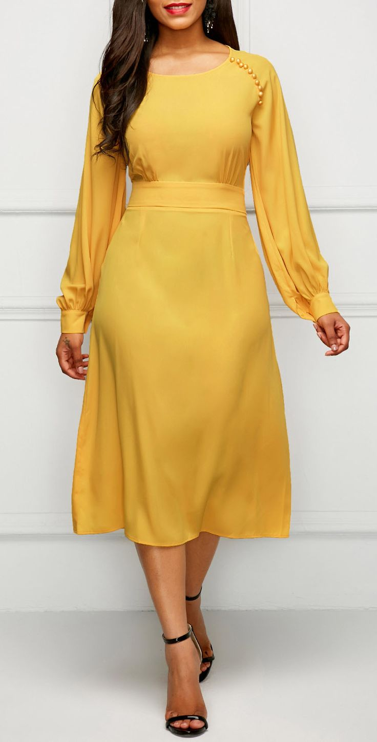 fine yellow dress outfits 8