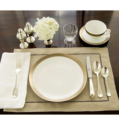 Great instructions from myhomeideas.com  for setting your holiday table! Formal Lunch For a formal luncheon, the table is set much as for dinner with a few exceptions. The presence of an iced teaspoon and iced beverage glass announce a daytime event. The lack of candlesticks, too, is appropriate for a daylight meal. Stemware is limited …