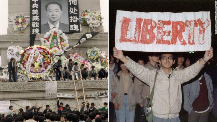 Tras la muerte del derrocado Secretario General del Partido Comunista Hu Yaobang, el 15 de abril de 1989, cientos de estudiantes se tomaron la Plaza de Tiananmen para honrrarlo. Hu se convirtió en un símbolo del movimiento estudiantil. Una semana después, marcharon hacia la Plaza e inició la ocupación que terminó en una trágica revuelta.