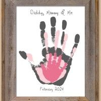 Image Source: Creations by Tami Lynn via Etsy This handprint project is as easy as pie yet the results are priceless. To make this art you have to stamp yo