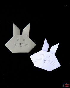 Pour Pâques, proposez un origami tout simple aux enfants : il s'agit de plier une tête de lapin et c'est aussi simple que de plier un bateau. En règle générale, l'origami est une activité ± qui permet de développer la motricité fine et l'imagination : une fois le lapin plié, il faudra dessiner nez, yeux et moustaches et l'enfant pourra l'intégrer dans une autre création.  Si vous avez vous-aussi envie de proposer cette activité aux enfants, montrez-nous leurs petits lapins pliés dans les…