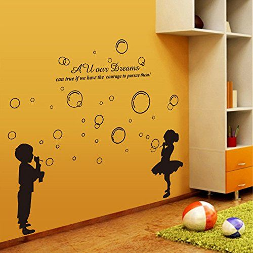 ufengke® Ragazzo e Ragazza Che Soffia Bolle Adesivi Murali, Camera dei Bambini Vivai Adesivi da Parete Removibili/Stickers Murali/Decorazione Murale ufengke décor http://www.amazon.it/dp/B00LFPAWMA/ref=cm_sw_r_pi_dp_NDZ0vb0JAP4QS