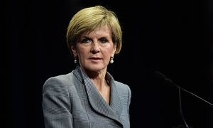 Julie Bishop: Australia will use private firms like Coca-Cola to deliver aid Foreign minister tells Liberal federal council that there is too much waste in aid spending and partnering with the private sector will achieve better results