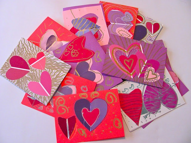 153 best February images – Construction Paper Valentine Cards