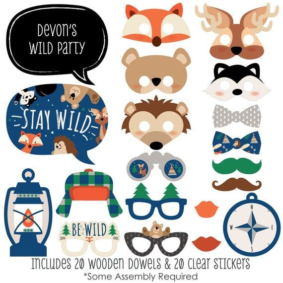 Woodland Birthday Party Decorations Party Banner Big Dot of Happiness Stay Wild Forest Animals