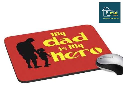 The rubber back up of the mouse pad prevents it from sliding. A great gifting idea for your #father.